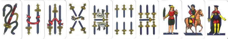 sette e mezzo swords