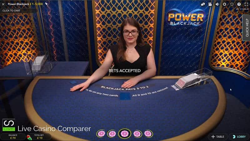 betting time foon live dealer power blackjack