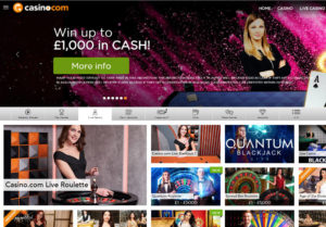 casino.com live casino review