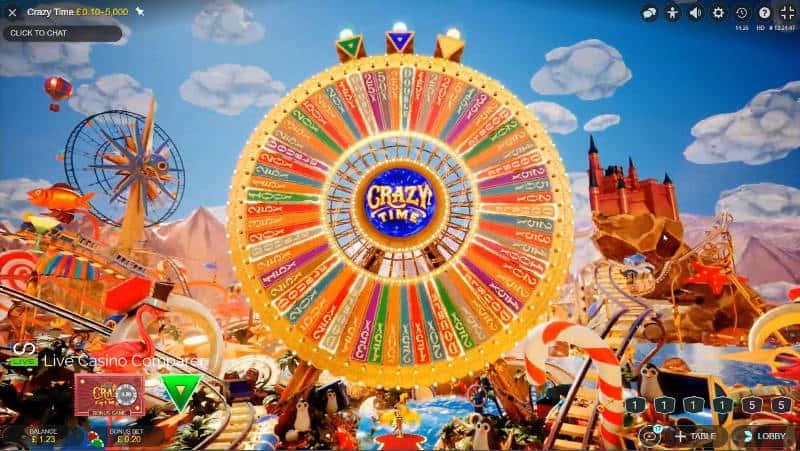 crazy time big wheel