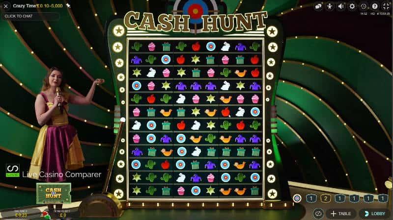 crazy time cash hunt