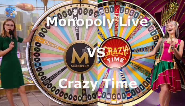 crazy time vs monopoly live