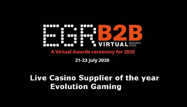 Evolution EGR Live Casino Supplier of the year