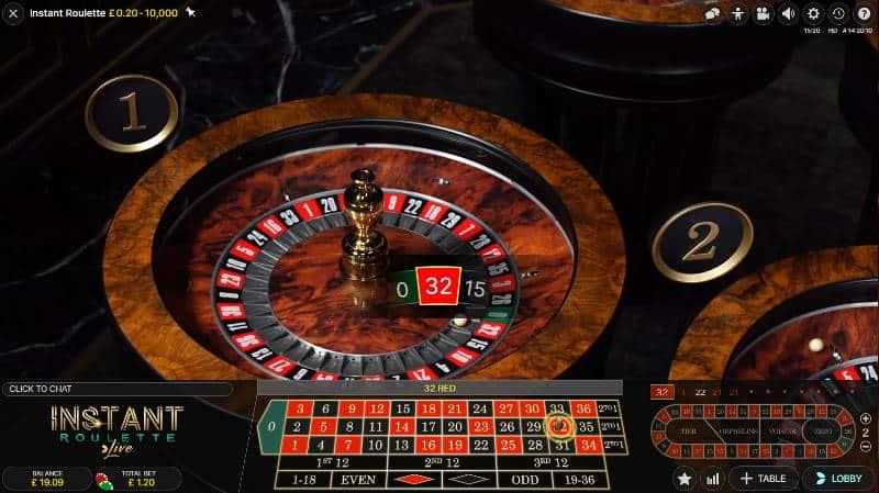 live instant roulette win