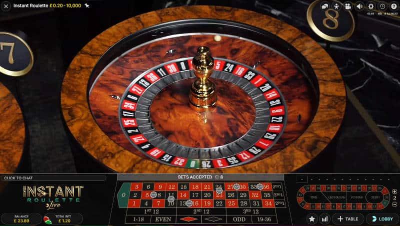 instant roulette wheel