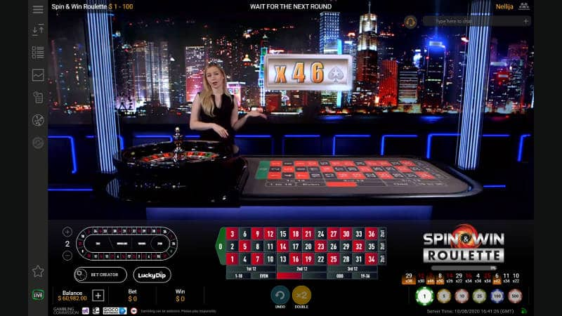 Spin & Win Roulette multiplier