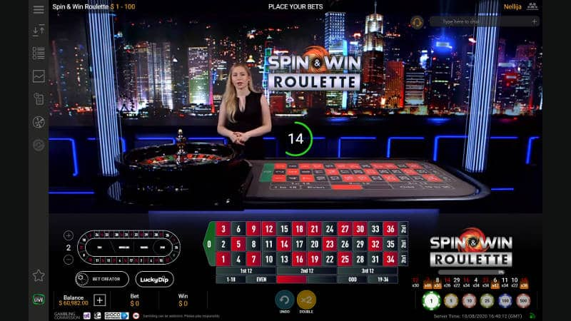 Live Spin & Win Roulette
