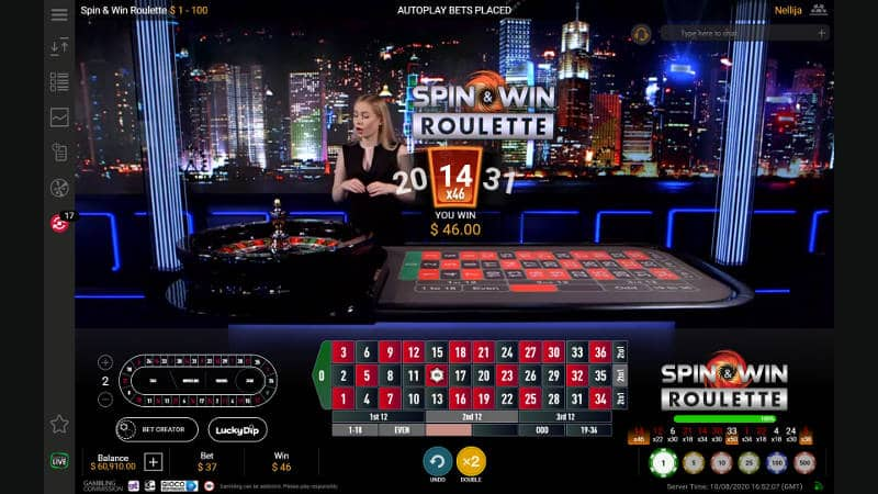 spin&win Roulette win