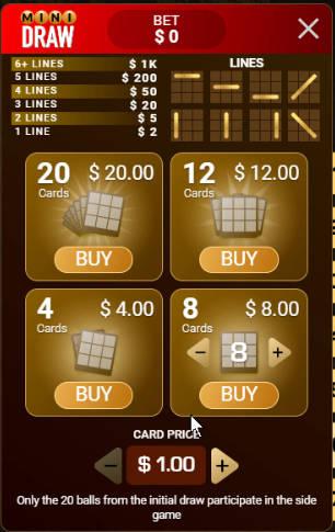 deal or no deal bingo side bet