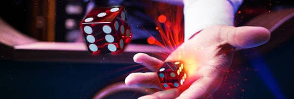 craps dice being rolled