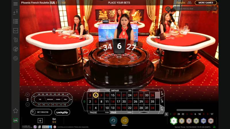 playtech phoenix french roulette