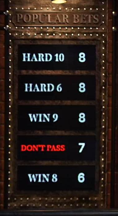 popular craps bets