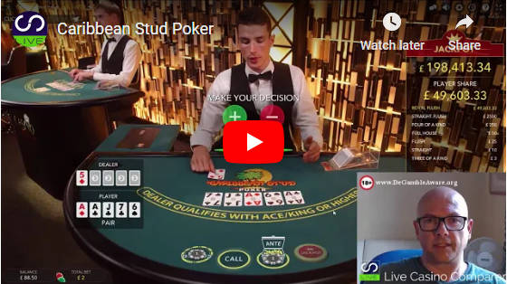 Caribbean stud poker video