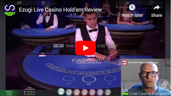 ezugi casino holdem video
