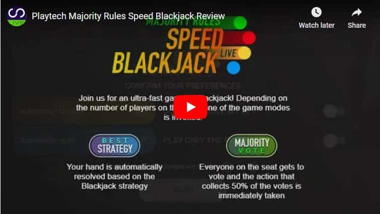 majority speed blackjack video review