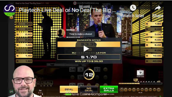 playtech deal or no deal video review