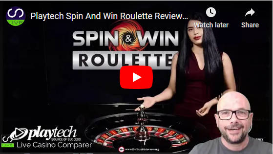 playtech spin and win roulette video