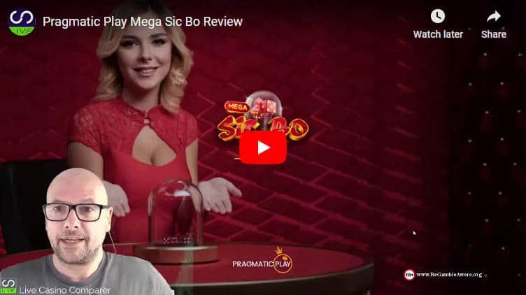 pragmatic mega sic bo video review