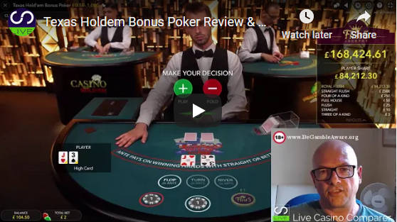texas holdem bonus poker video
