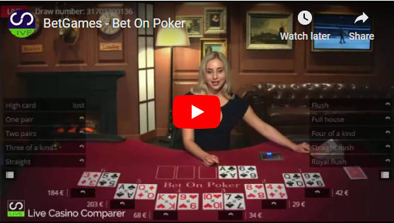 Betgames Bet On Poker How To Play Live Casino Comparer