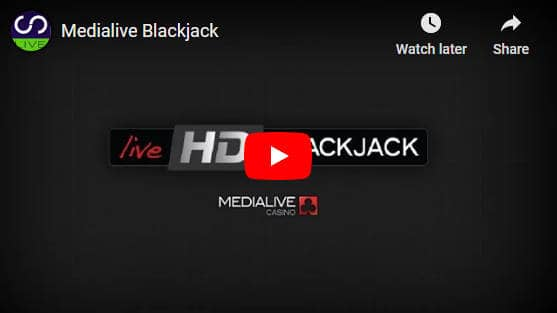 Liveg24 blackjack video