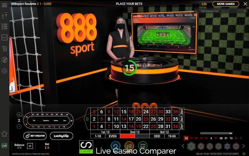 888Sport Live Roulette