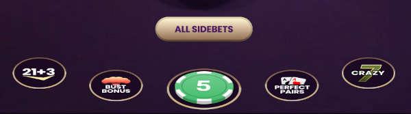 one blackjack side bets