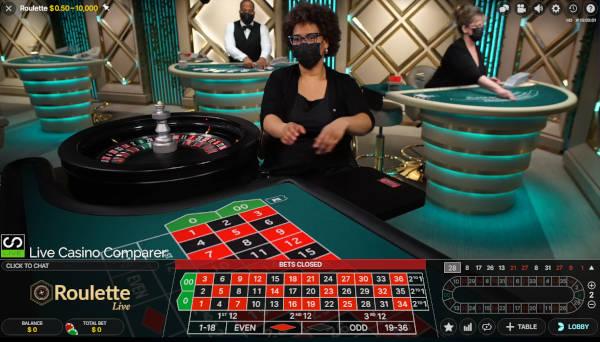 pennsylvania live dealer roulette table