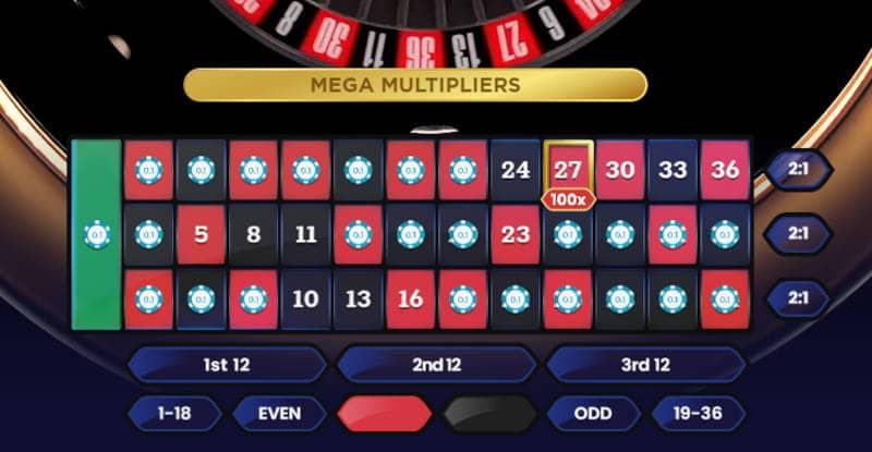 pragmatic mega roulette sections bet