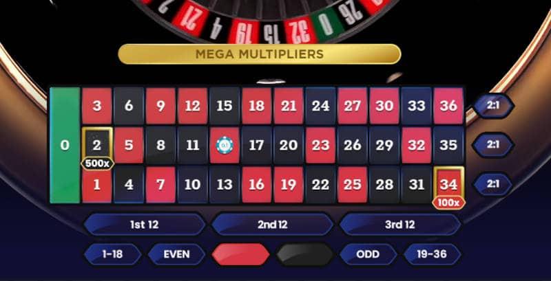 live mega roulette single number bet