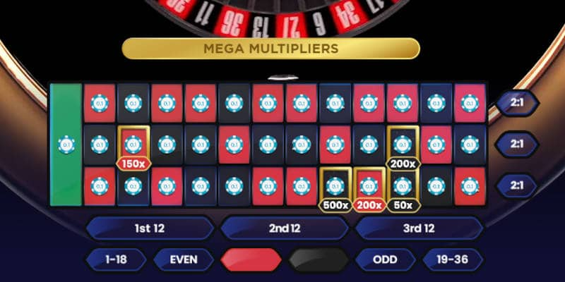 mega roulette all numbers bet