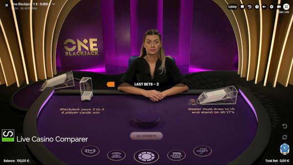 one blackjack full screen mode