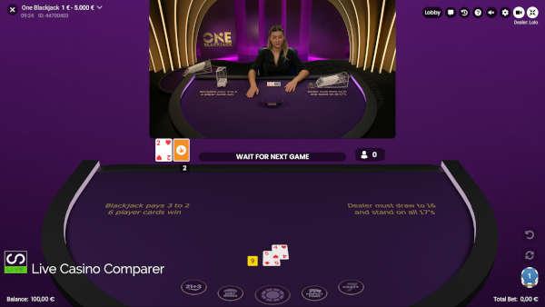 one blackjack mixed screen mode