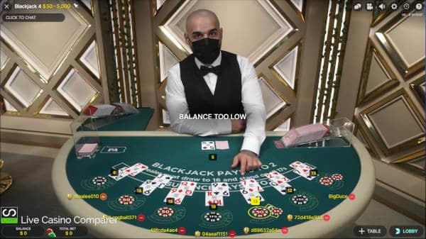 PA Live Blackjack