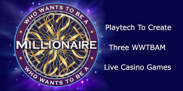 playtech to create 3 wwtbam live games