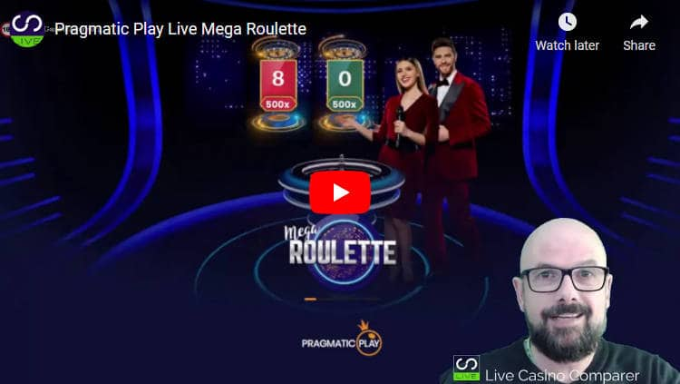 video review of pragmatic play live mega roulette