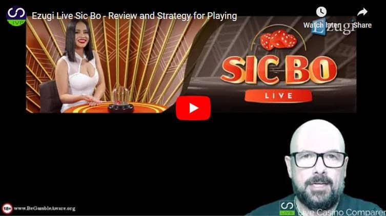 ezugi live sic bo video review