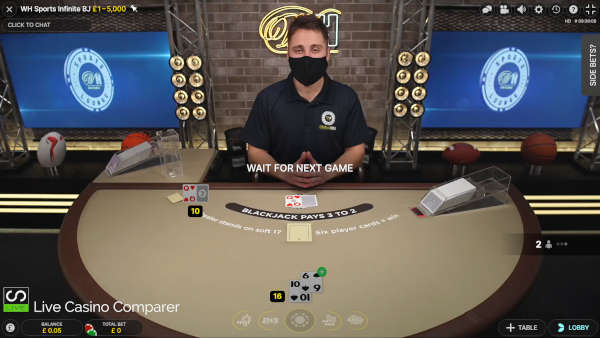 william hill infinite blackjack