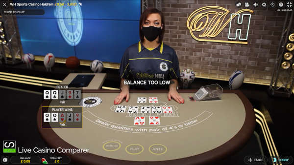 william hill casino hold'em