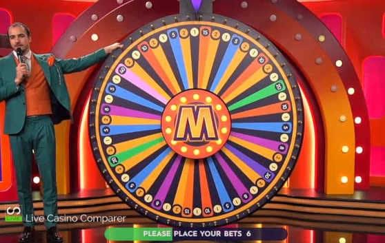 close up of the live mega wheel