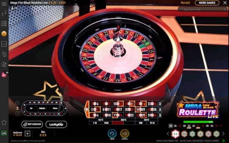 mega Fire Blaze Roulette Wheel
