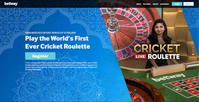 betway live cricket roulette indian