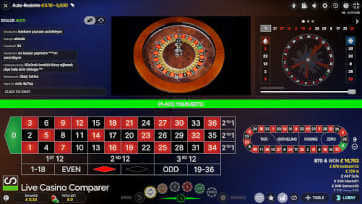 classic view of slingshot auto roulette