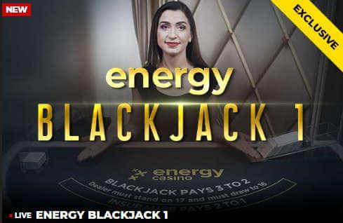 Energy dedicated Live Blackjack Table