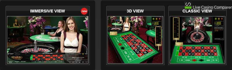Immersive Lite Roulette - Table Selection