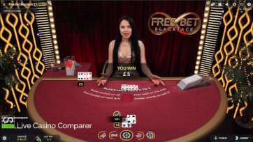 playing free bet blackjack