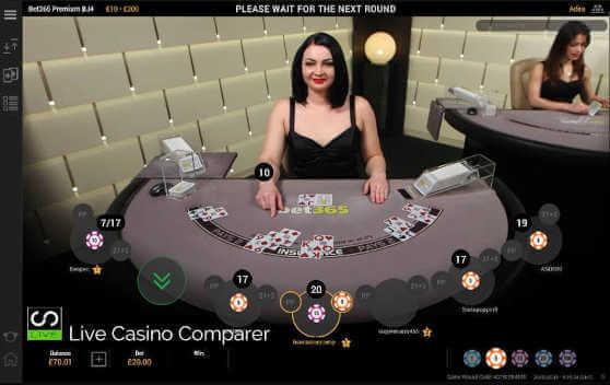 blackjack straight flush bet365
