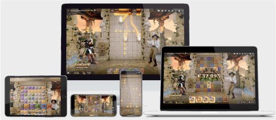 gonzos treasure hunt live device types