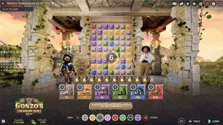 gonzos treasure hunt live - betting time