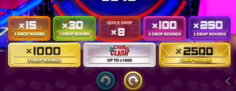 money drop grame rounds and betting grid